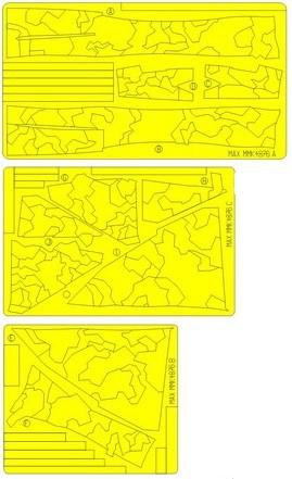 SAAB 37 Viggen 1-sits splinter kamo målningsmask 1/48