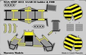 SAAB 32 Lansen stege och FOD set 1/48