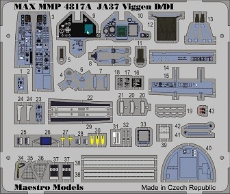 SAAB JA37 Viggen D / DI cockpit detail set (Tarangus)