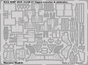 SAAB 37 Viggen 37 exteriör & luftbromsar (Tarangus)