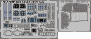 SAAB 91B/C/D Safir detail set for Tarangus 1/48