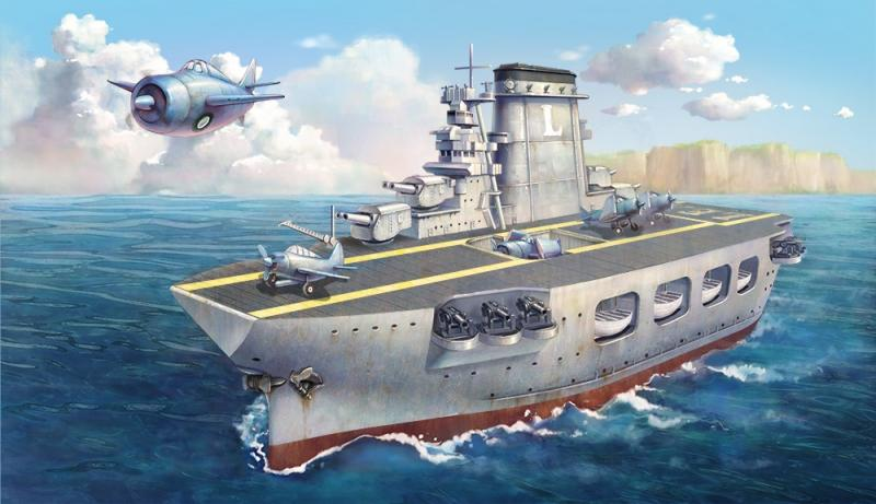 Warship Builder Lexington Cartoon Ship