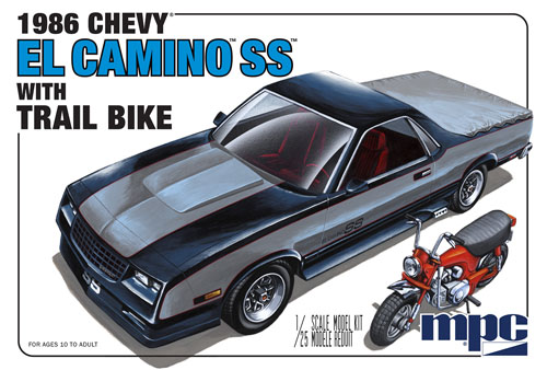 1986 Chevy El Camino W/Dirt Bike 1/25