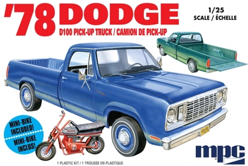 1978 Dodge D100 Custom Pickup 1/25
