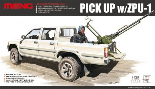 Toyota Hilux Pick Up Truck w/ ZPU1 Anti-tank Gun 1/35