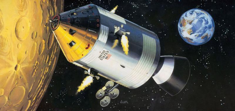 Moon Landing 1/32 - Apollo 11 Spacecraft w/ Int