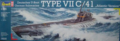 German Submarine Type VII C/41 (Atlantic Version) 1/144
