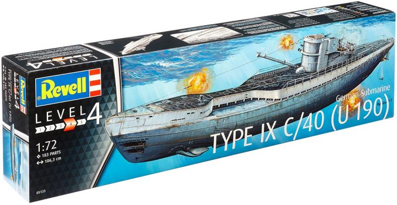 German Submarine TYPE IX C/40 (U190) 1/72