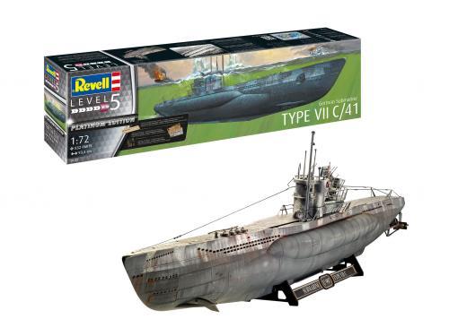 Typ VIIC/41 German Submarine Platinum Edition 1/72
