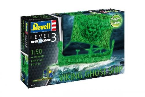 Viking Ghost Ship with Night Color 1/50