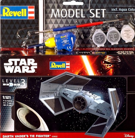 DARTH VADER'S TIE FIGH 1/121 Model Set