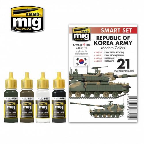REPUBLIC OF KOREA ARMY MODERN COLORS