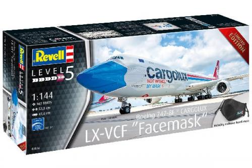 "BOEING 747-8F CARGOLUX LX-VCF ""FACEMASK"" 1/144"