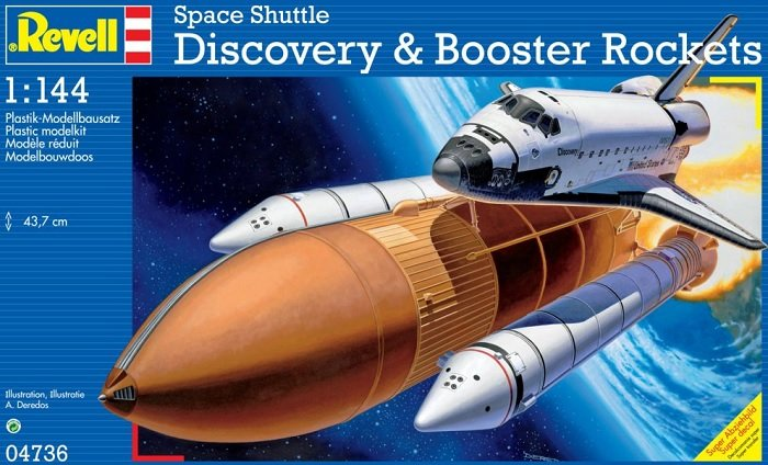 Space Shuttle Discovery and Booster Rockets 1:144