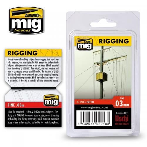 Riggtråd - medium 0,03mm
