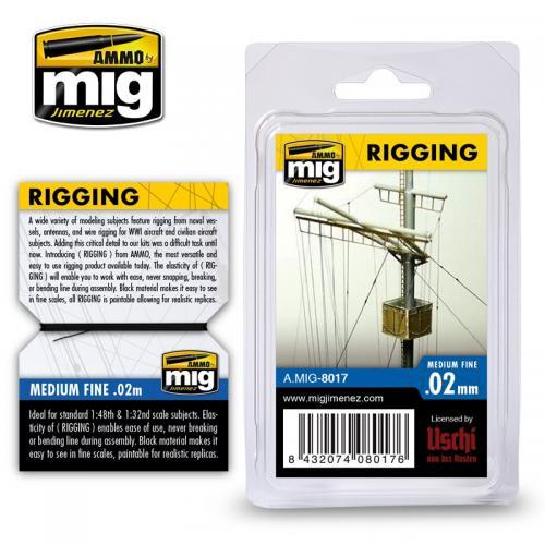 Riggtråd - medium fine 0,02mm