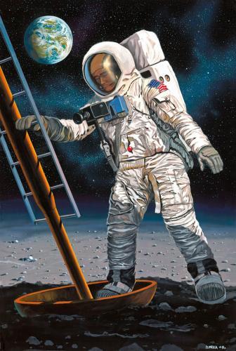 Moon Landing 1/8 - Apollo 11 Astronaut on Moon