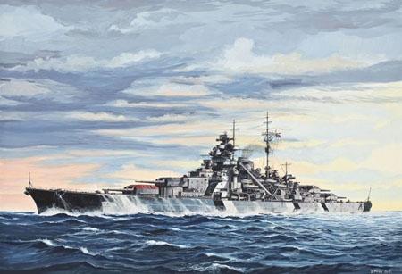 Battleship Bismarck 1/700