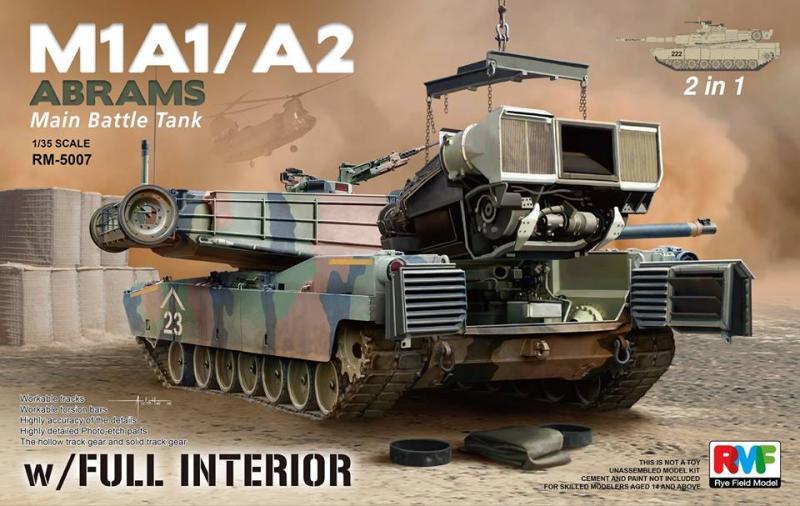 M1A1/M1A2 Abrams w/ Full Interior 1/35