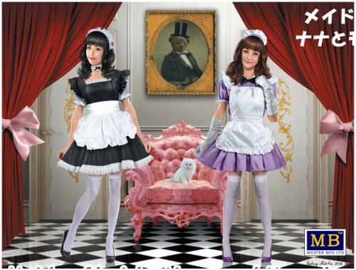 Maid Cafe Girls, Nana and Momoko 1/35