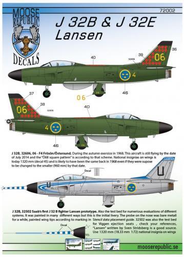 SAAB J32B & J32E Lansen 1/72