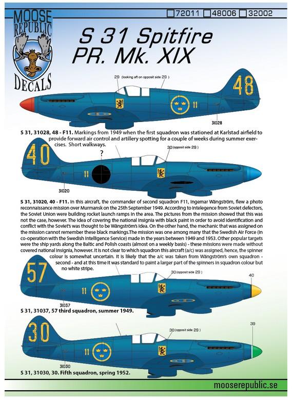 S31 Spitfire PR Mk.XIX 1/72