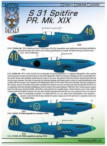 S 31 Spitfire PR Mk. XIX 1/48