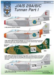 SAAB 29A/B/C Tunnan del 1 1/72