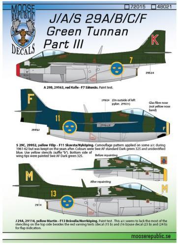 SAAB 29A/B/C/F Tunnan del 3