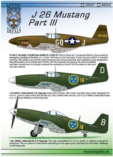 J 26 Mustang Del 3 1/48