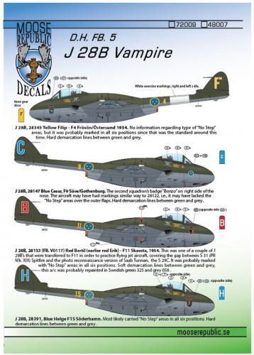 J 28B Vampire 1/48