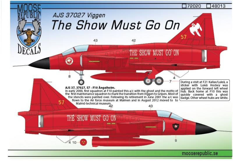 "AJS 37027 ""The Show Must Go On"" 1/48"