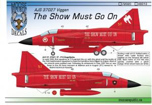 """AJS 37027 """"The Show Must Go On"""" 1/48"""