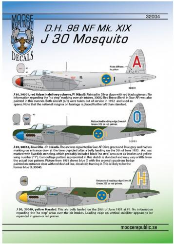 J 30 DH Mosquito 1/32
