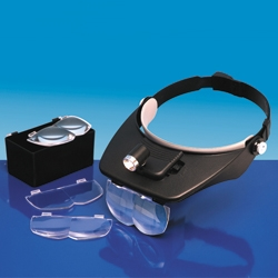 VERSATILE HEADBAND MAGNIFIER WITH 4 LENSES