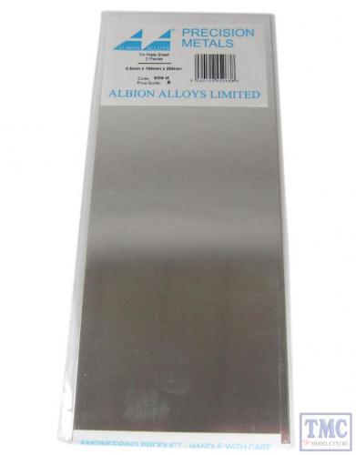 Tin Plate Sheet, 0.5 mm, 2pcs - 100x250mm