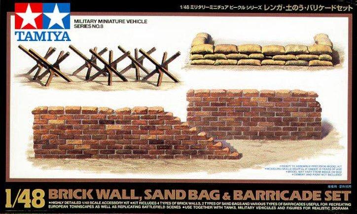 Brick Wall, Sand Bag and Barricade Set 1/48