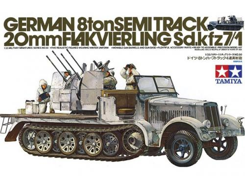 German 8ton Semitrack w/20mm Flakvierling Sd.Kfz. 7/1 1/35