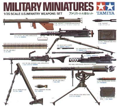 U.S. Infantry Weapons Set 1/35