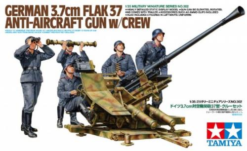 German 3.7cm Flak 37 Anti-aircraft Gun w/Crew 1/35