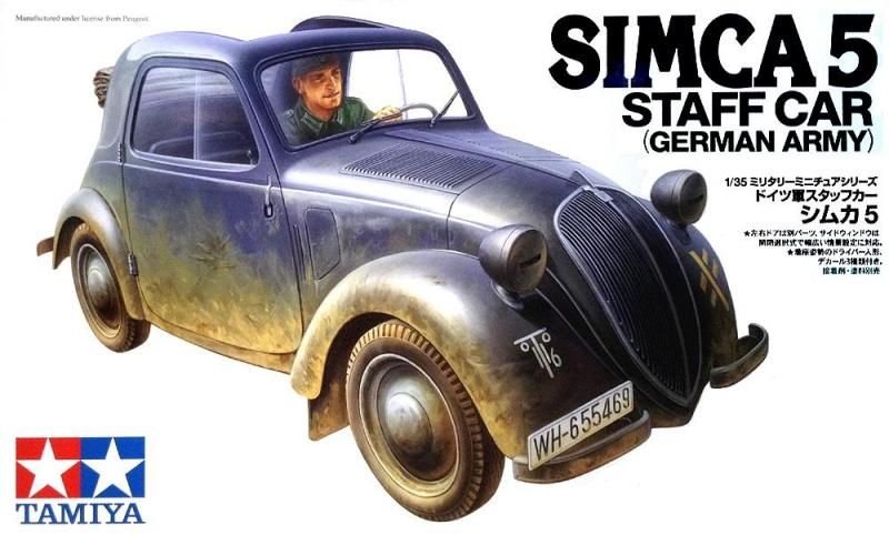 Simca 5 Staff Car (German Army) 1/35