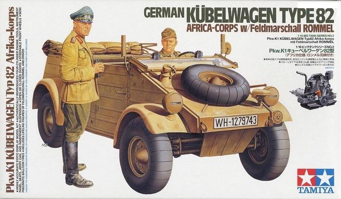 German Kübelwagen Type82 Africa Corps 1/16
