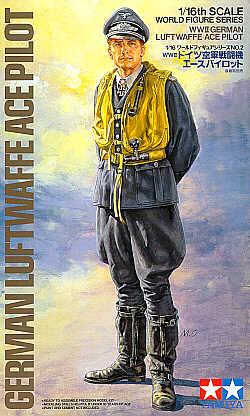 WWII Luftwaffe Ace Pilot 1/16