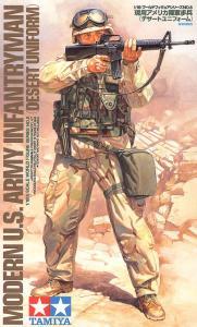 Modern US Army Infantryman (Desert Uniform) 1/16