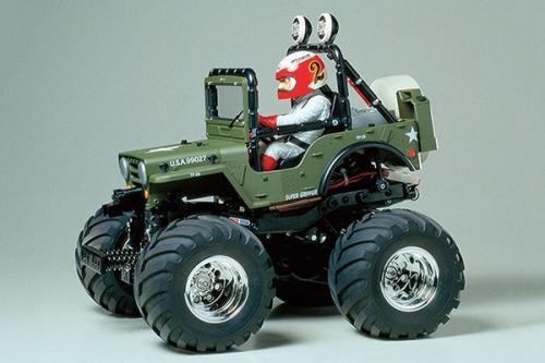 Radiostyrd bil, grön jeep R/C WILD WILLY 2000