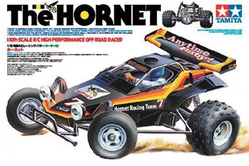 Radiostyrd bil, racerbil, svart och orange R/C THE HORNET