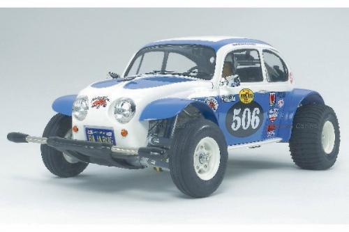 Radiostyrd bil, racerbil, blå och vit  R/C SAND SCORCHER