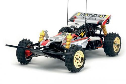 Radiostyd bil, racerbil vit och röd R/C SUPER HOTSHOT