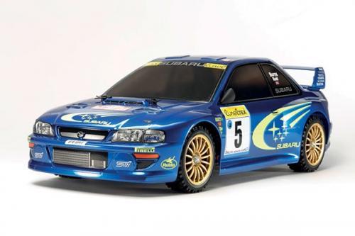 Radiostyrd bil, blå racerbil  R/C SUBARU IMPREZA MONTE-CARLO 99