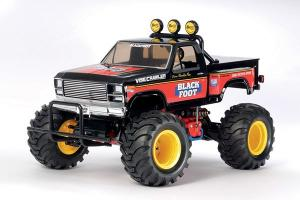Radiostyrd bil, Monster Truck, svart och röd R/C BLACKFOOT